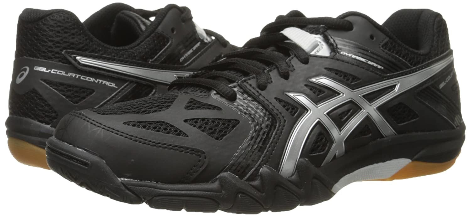 ASICS Women's Gel Court 9.5 Control Volleyball Shoe B00Q2KDZXG 9.5 Court B(M) US|Black/Silver 60d020