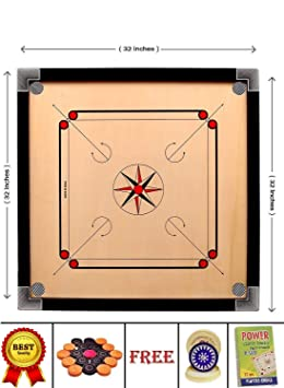 SMT Wooden Premium Quality 32 Inch Large Size Carrom Board