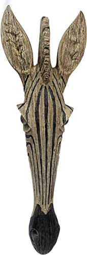 Design Toscano Zebra Animal Mask of the Savannah Wall Decor Sculpture