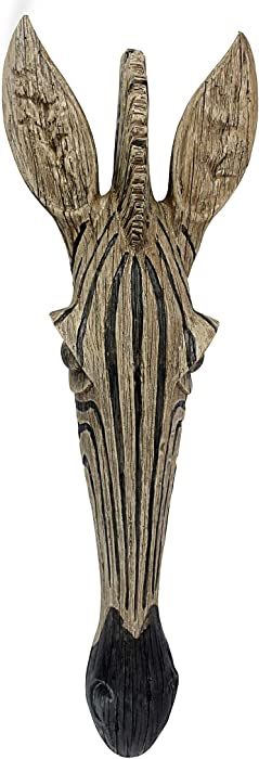 Design Toscano Zebra Animal Mask of the Savannah Wall Decor Sculpture, 16 Inch, Polyresin, Full Color