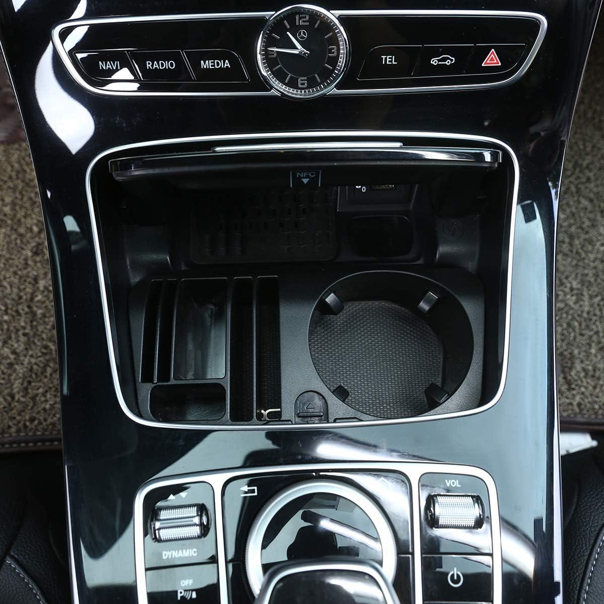LLKUANG Scatola portaoggetti in plastica per consolle centrale per Mercedes Benz Classe E W207 Coupe w213 GLC X253 W205