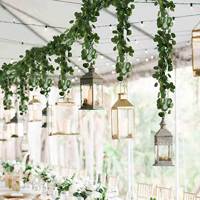 Artificial Fake Plastic Flowers Vine-Hanging Plant Garden Wedding L8Q0