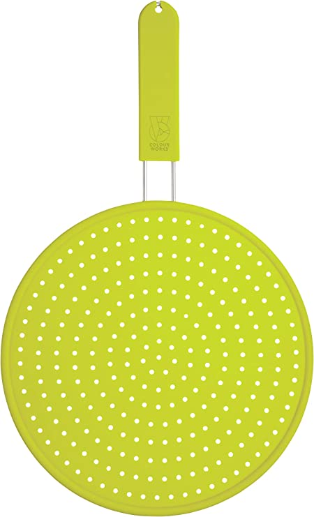 Kitchencraft Metal Frying Pan Splatter Guard Lid 31 Cm Fast And Free Delivery
