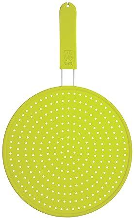 Compra Kitchen Craft Colourworks - Protector de silicona contra salpicaduras (28 cm), color verde en Amazon.es