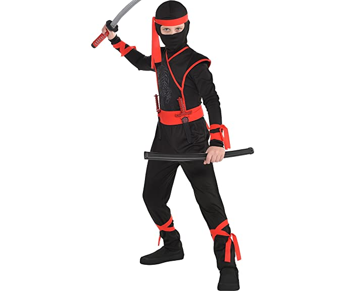 amscan shadow ninja halloween costume boys large included accessories