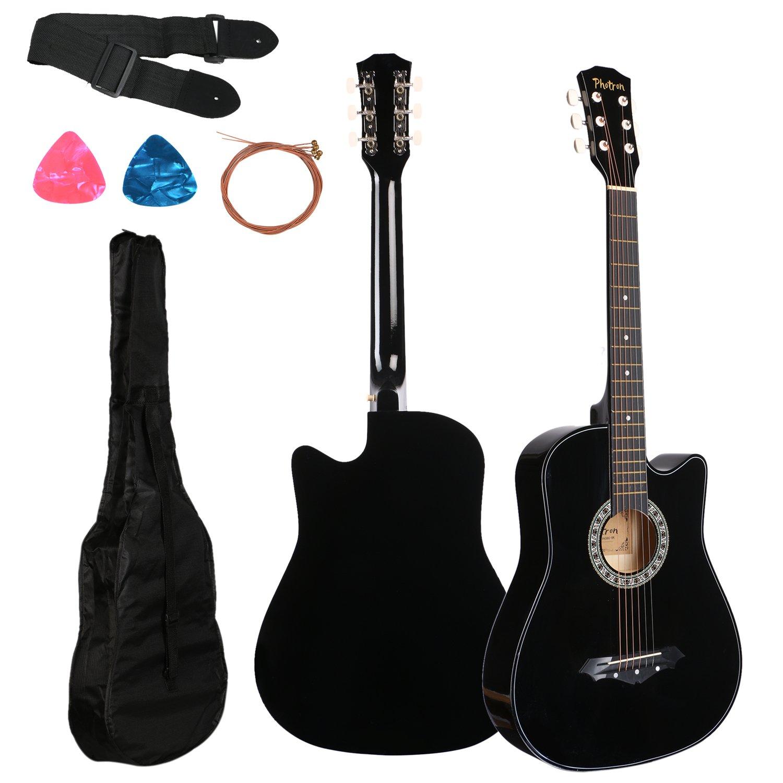 Juarez Acoustic Guitar 38 Inch Cutaway 038c With Bag Strings