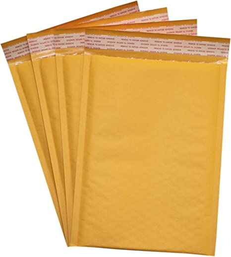 """1250 #00 5/""""X 10/"""" POLY BUBBLE MAILERS SELF SEAL WHITE PLASTIC BAGS ENVELOPES 5x10"""