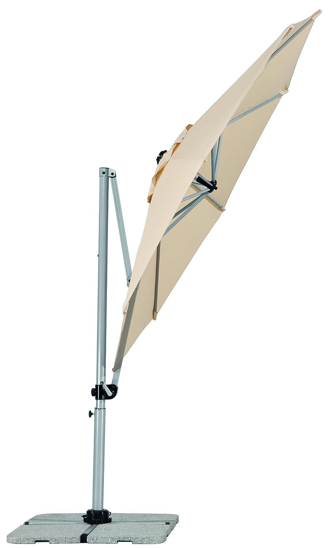 Amazon.de: Schneider Sonnenschirm Samos, Natur, 300 Cm Rund, Gestell  Aluminium/Stahl, Bespannung Polyester, 21.2 Kg