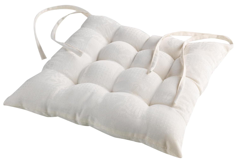 Charme et Douceur 3003284Cuscino per sedia imbottito in tessuto calisse jacquard damascato poliestere Rosa 38x 38cm L3C