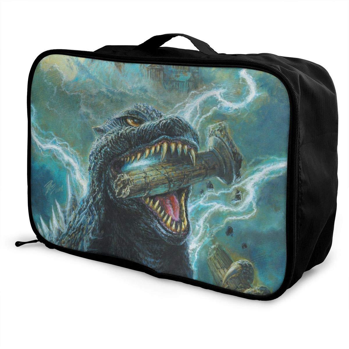 BOKAIKAI1306 Kong Godzilla Unisex Adults Fashion Lightweight Large Capacity Portable Large Travel Duffel Bag Mens Woman Luggage Bag 3D Print Custom Boarding Box