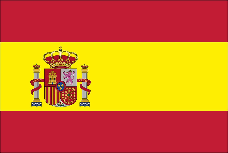 BC Corona ADH06591 Pegatina Bandera ESPAÑA con Escudo Vinilo 10 X 6,7 CM, 1 UD: Amazon.es: Coche y moto