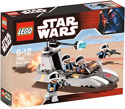 LEGO Star Wars 7668 Rebel Scout Speeder - Deslizador Explorador ...