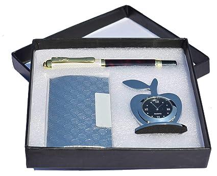 MSA Jewels - Silver Finish Office Set Corporate Gift Set