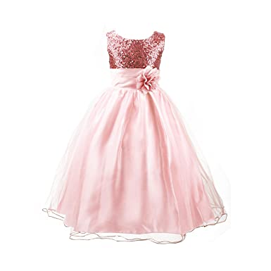 f6fe0f50575a Discoball Princess Girls Sequinned Dress Sleeveless Tulle with ...