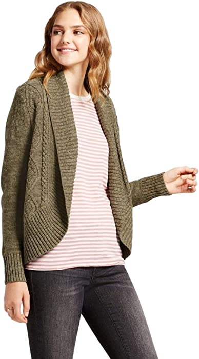 e80ad4423f Mossimo Women s Cable Knit Cocoon Cardigan (Olive
