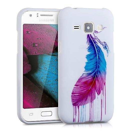 5 opinioni per kwmobile Cover per Samsung Galaxy J1 (2015)- Custodia in silicone TPU- Back case