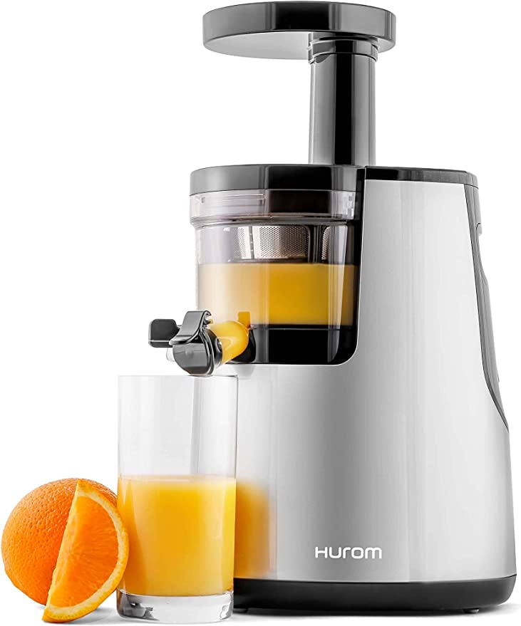 Hurom Elite Slow Juicer Model HH-SBB11 Noble Silver with Cookbook ...