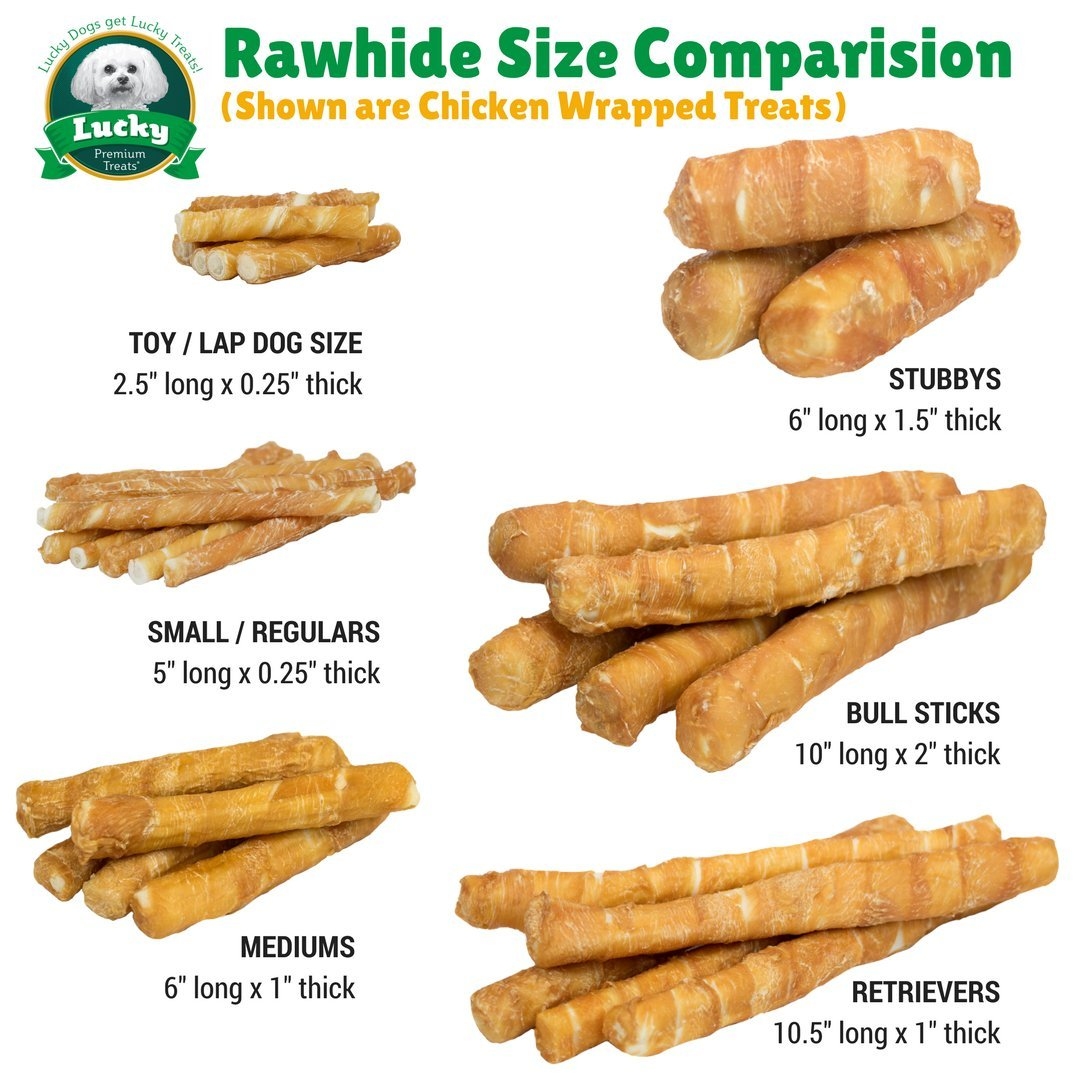 Lucky Premium Treats Chicken Wrapped Rawhide Chews for Toy and Lap Dogs, All Natural Dog Chews (100 Chews) by Lucky Premium Treats (Image #6)