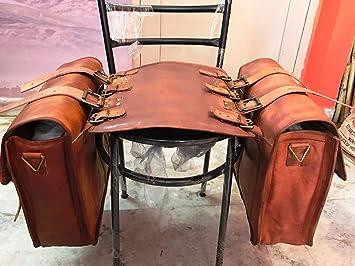 2/Taschen LBH 2/x Motorrad Seite Tasche braun Seite aus Leder Satteltaschen Satteltaschen Motorrad Fahrrad Bike