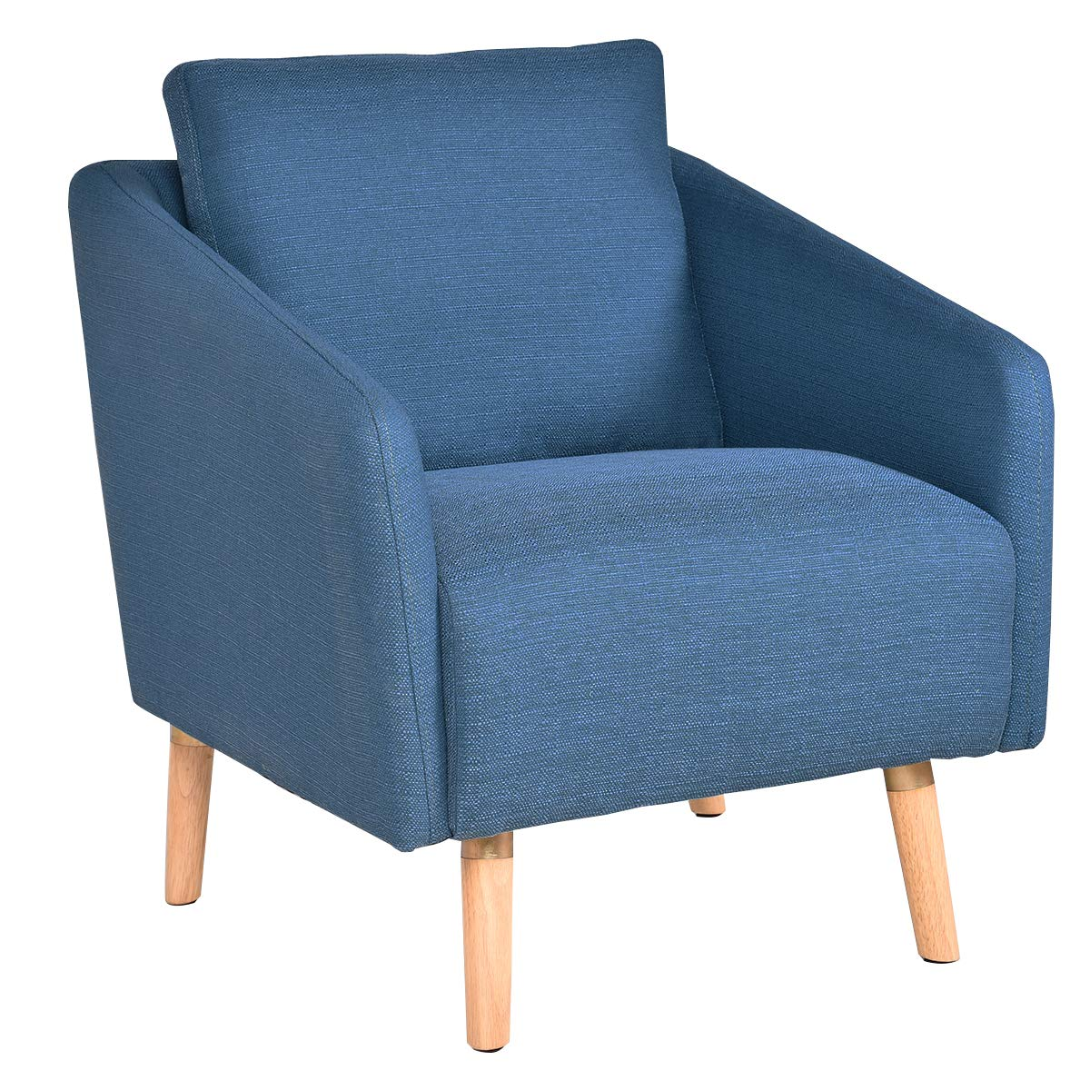 Giantex Accent Leisure Upholstered Arm Chair Single Sofa Living Room Furniture Blue