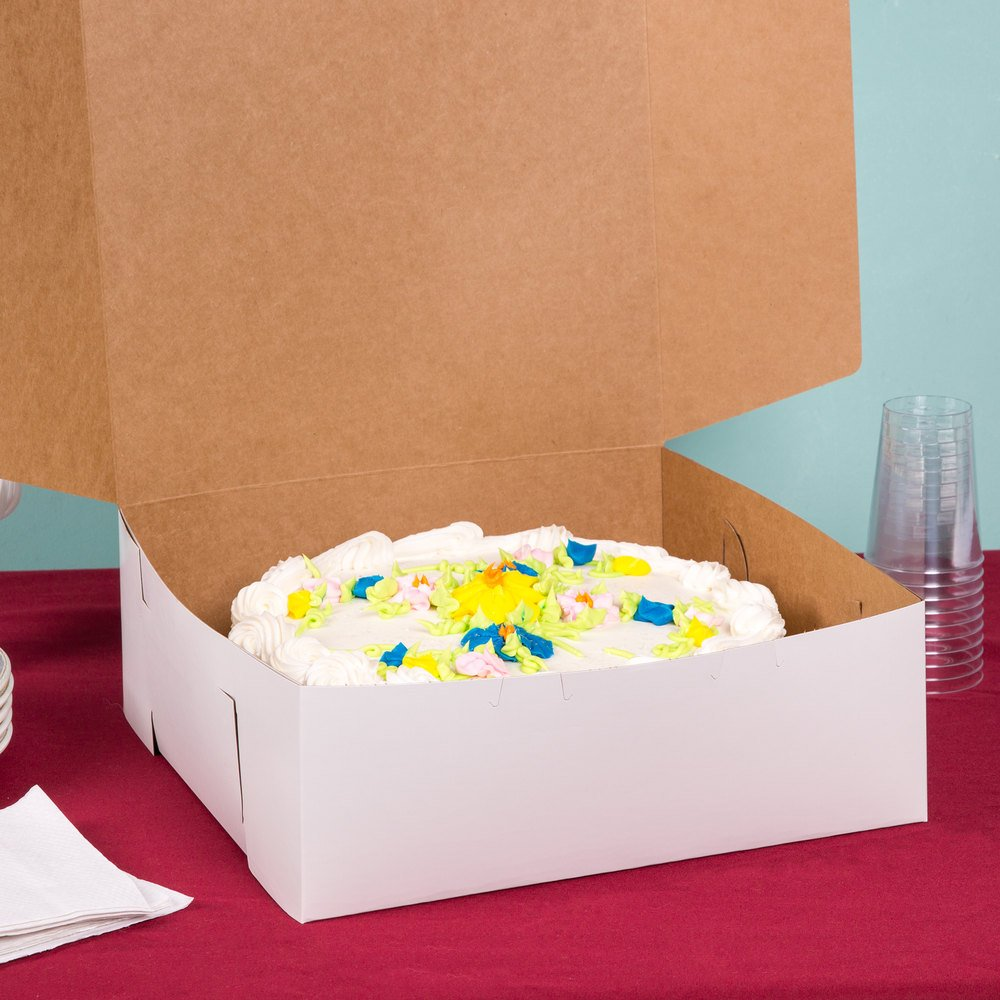 Southern Champion Lot of 10 Bakery or Cake Box White 14x14x6