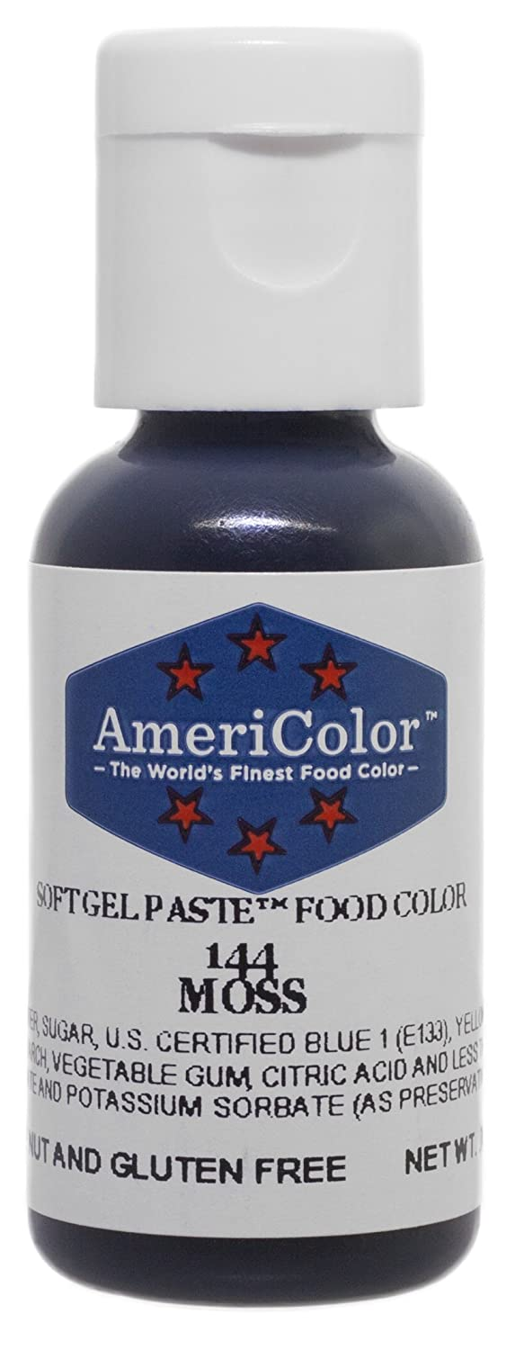 AmeriColor Food Coloring, Moss Soft Gel Paste, .75 Ounce Bottle Food Color