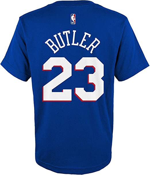 Outerstuff Jimmy Butler Philadelphia 76ers #23 Blue Youth Name /& Number Jersey T-Shirt
