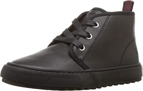 Kids Polo Ralph Lauren Boys Chett Leather Hight Top Lace Up Fashion Sneaker