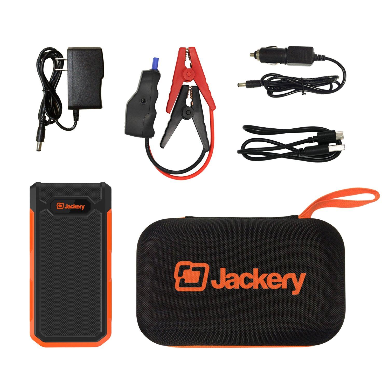 Jackery Spark Potente avviatore da salto da 18000 mAh con il pi/ù alto 800A Attuatore di salto compatto auto-emergenza compatto con picco di emergenza USB Caricatore portatile doppio con luce flash integrata a LED