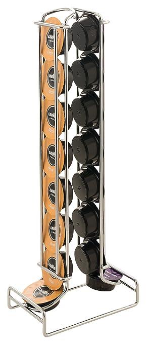 Macom - Just Kitchen 602 - Dispensador Totem Lavazza A Modo Mio de cápsulas para máquinas de café, 16 cápsulas, acero cromado: Amazon.es: Hogar