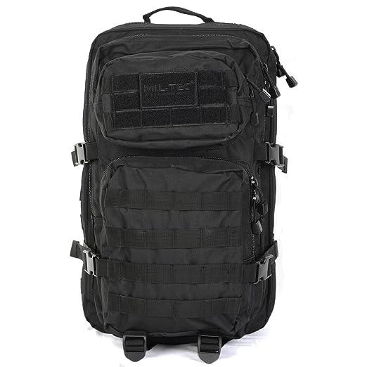 Mil-Tec MOLLE Tactical Assault Backpack - Large 36 Litre (Black)   Amazon.co.uk  Sports   Outdoors a2cb244c946de