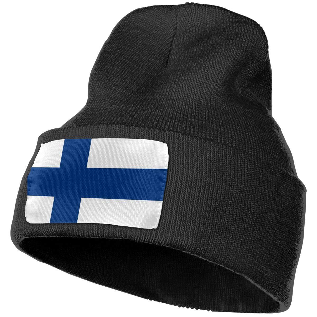 100/% Acrylic Beanie Hat MXMAOM9MX Finland Flag Warm Knitting Hat Mens Womens