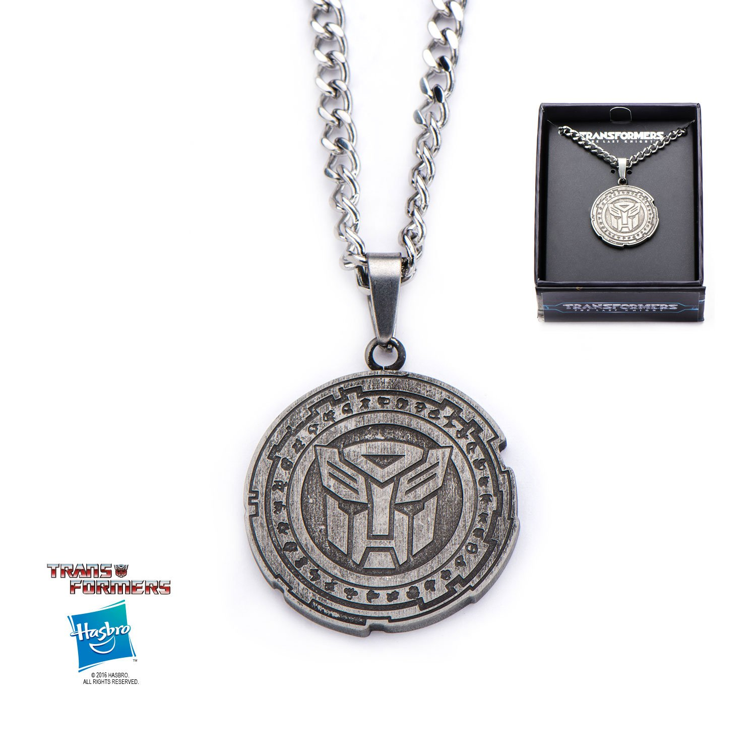Transformers The Last Knight Autobot Stainless Steel Pendant Necklace w/Gift Box by Superheroes Brand
