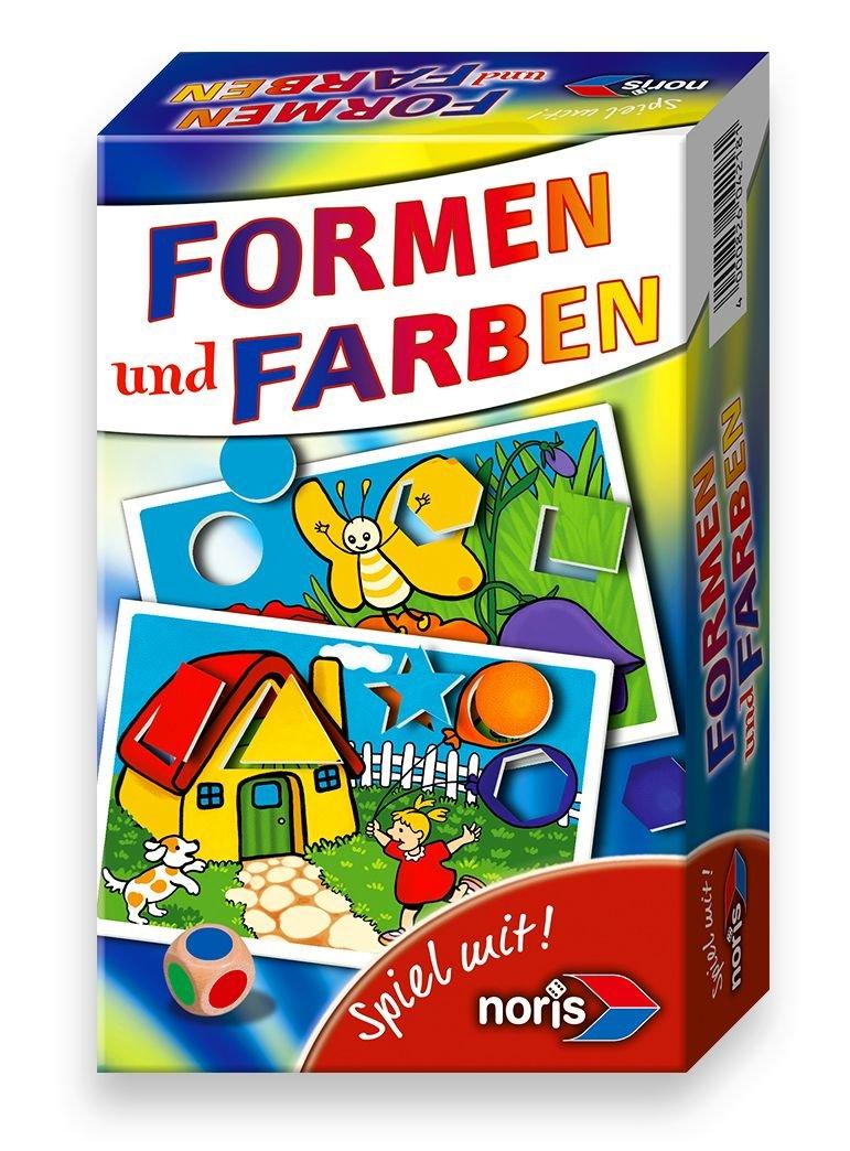 Noris Spiele 606094218 - Formen & Farben, Reise- und Mitbringspiel