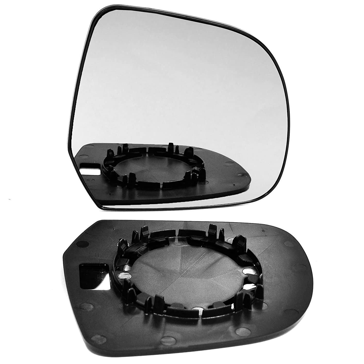 Right hand, driver side wing door clip on mirror glass Less4Spares
