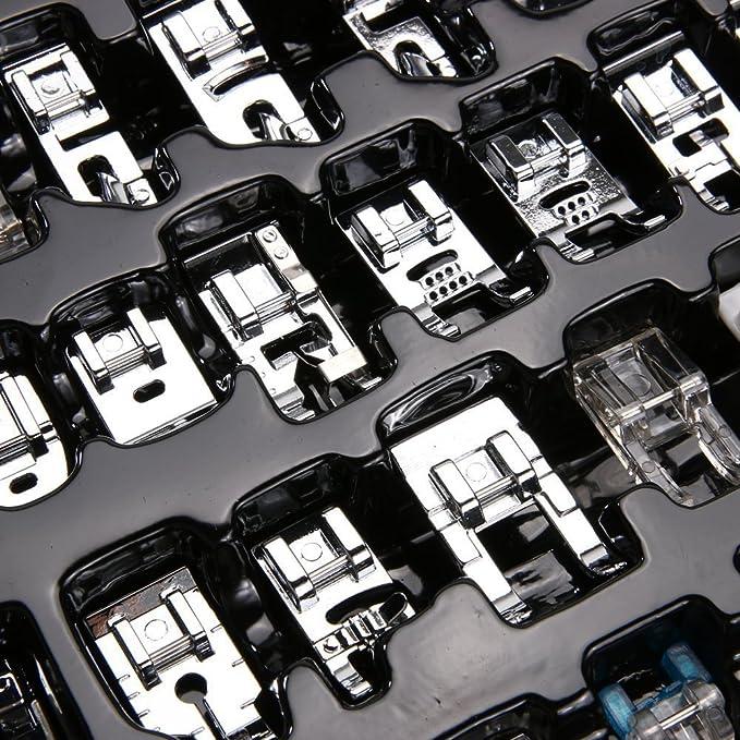 onerbuy profesional doméstica Máquina de coser prensatelas 42 Set baja vástago snap-on suministro de costura Accesorios Herramientas para Brother, Singer, ...