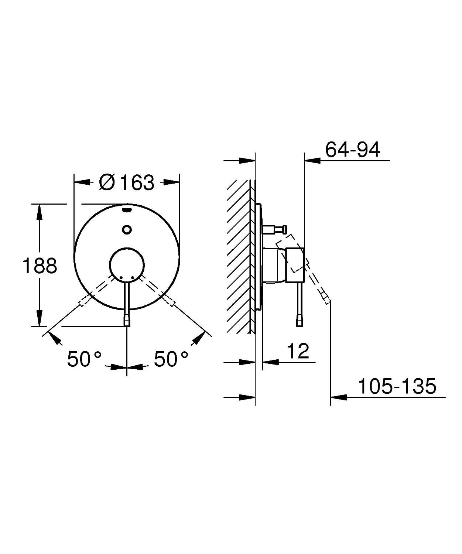 Grohe Einhand-Wannenbatterie 19285DC1