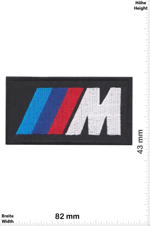 Applique embroidery /Écusson brod/é Costume Cadeau- Give Away Iron on Patch Motorsport Patches Racing Car Team black- Cars BMW M Power