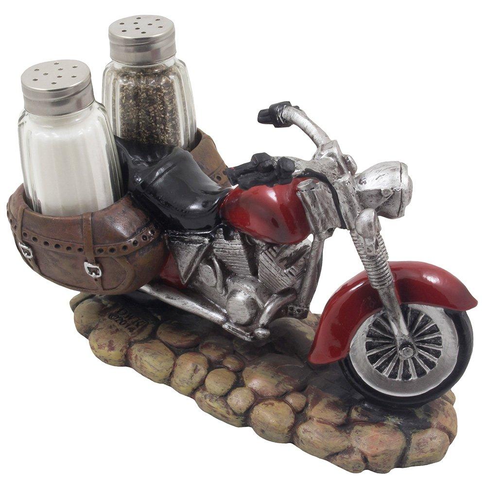 SPICY RIDER Retro Motorcycle Salt /& Pepper Shaker Set