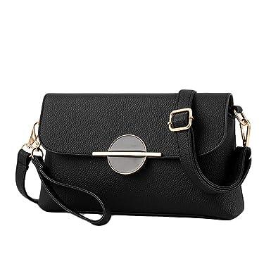 Damenbeutel Kettenmappe Bucklet Geldbeutel Tasche Schulter Messenger Bag,Red1-OneSize GKKXUE