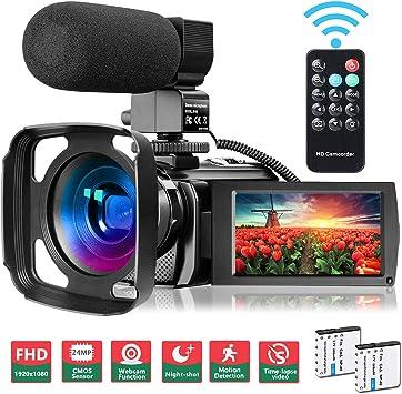 Camcorder Full HD 1080P 30 FPS IR Night Vision Vlogging Camera 3.0 Inch IPS Screen
