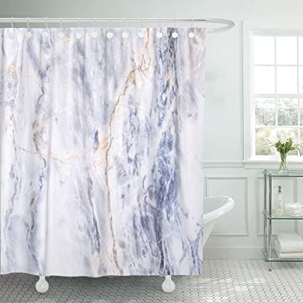 Image Unavailable Not Available For Color TOMPOP Shower Curtain Blue Gold