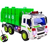 Remote Control Garbage Sanitation RC Truck 1:16 Four Channel Full Function w/ Lights Battery Powered RC Truck Toy