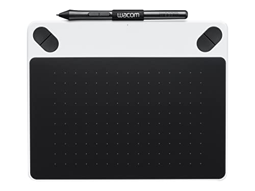 Wacom Intuos Draw Pen Tablet in White (Size: S) – Small Graphic Tablet incl. ArtRage Lite Software Download and the Precise Wacom Intuos Pen – Compatible with Windows and Apple