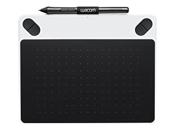 Wacom Intuos Draw Pen Tablet in White (Size: S) – Small Graphic Tablet  incl  ArtRage Lite Software Download and the Precise Wacom Intuos Pen –