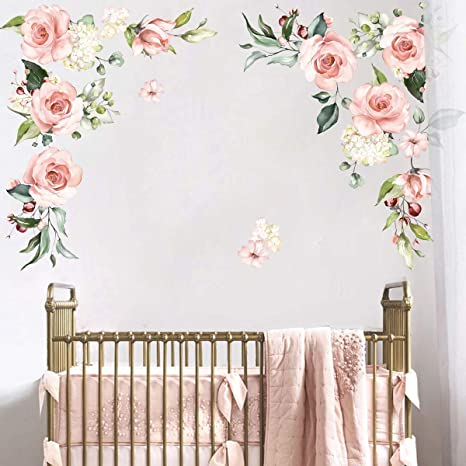 shelf adhesive. Floral wall decals vinyl wall sticker flower wall decal floral wall decoration Wall decal Living Room stickers floral