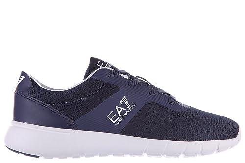 Emporio Armani EA7 Zapatos Zapatillas de Deporte Mujer Nuevo Simple Racer BLU: Amazon.es: Zapatos y complementos