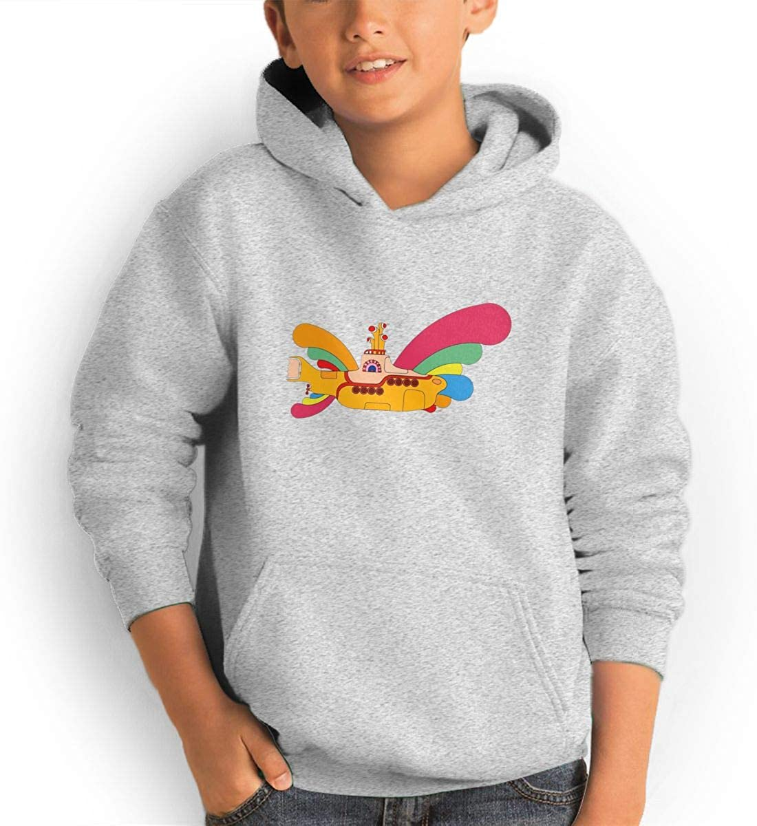 Red Coffee Teen Fashion Hoodie Hooded Sweatshirt Pocket Youth Boys Girls Sweaters,The Beatles Yellow Submarine