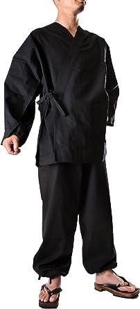 Amazon.com: Japanese Kimono Robe Samurai Ninja Samue Japan ...