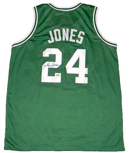 more photos 2f8f6 27bb2 Sam Jones (Boston Celtics) Autographed Jersey - #24 Green ...